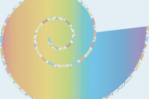 spirale t 44 fond bleu